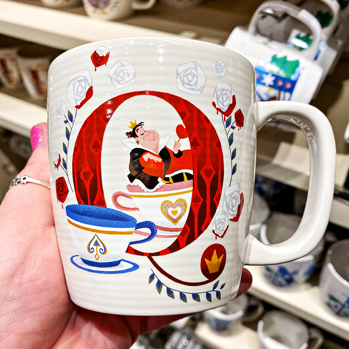 ABC's of Disney Mugs - Q is for Queen of Hearts - The Mad Tea Party
