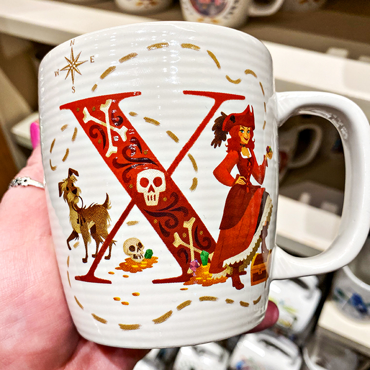 ABC's of Disney Mugs - X is for X Marks the Spot - Pirates of the Caribbean
