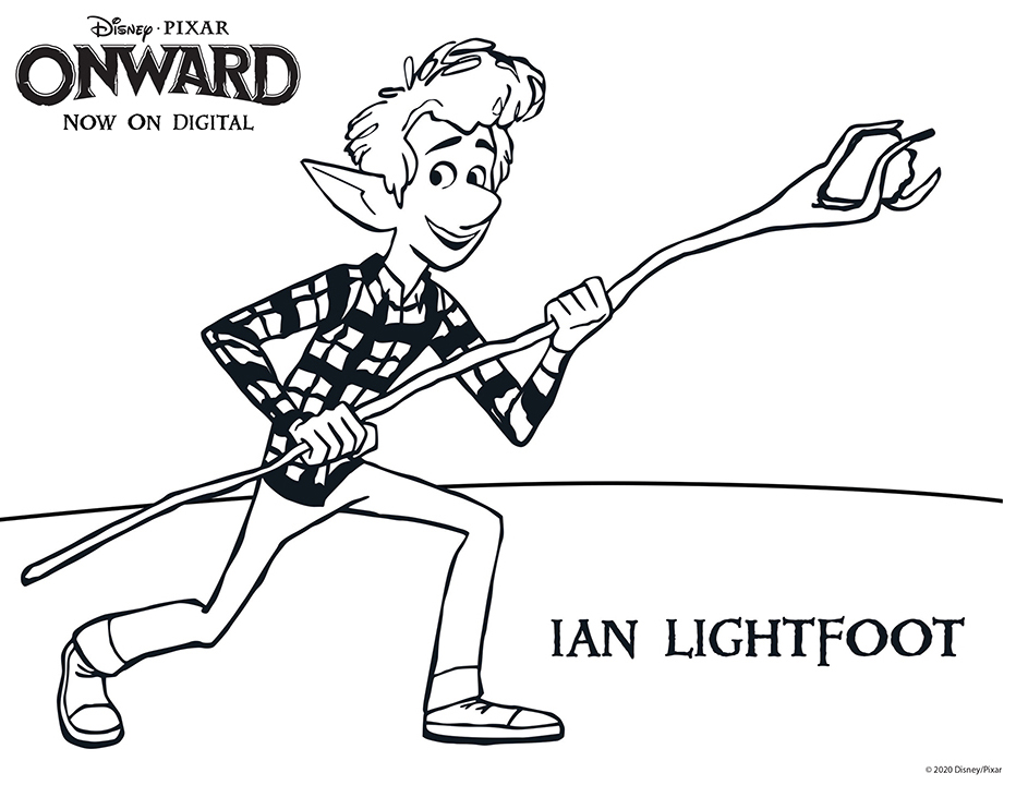 Disney Pixar Onward Coloring Pages - Ian Lightfoot
