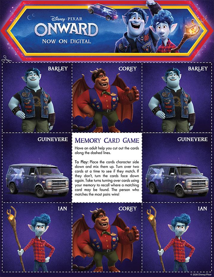 Disney Pixar Onward Memory Card Game